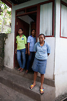 February 23rd, 2013_ Baucau, TIMOR-LESTE_ Members of the Ai-Funan soap, woman's cooperative in Baucau, Timor-Leste have a rest outside the small room where they make their all natural handmade soap bars.    Photographer: Daniel J. Groshong/The Hummingfish Foundation