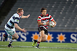 Tim Nanai Williamslooks to void Tom McCartney as he makes a run upfield.    ITM Cup Round 7 rugby game between Auckland and Counties Manukau, played at Eden Park, Auckland on Thursday August 11th..Auckland won 25 - 22.