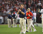 Ole Miss offensive line coach Mike Markuson at Bryant-Denny Stadium in Tuscaloosa, Ala.  on Saturday, October 16, 2010. Alabama won 23-10.
