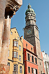 City Tower (Stadtturm), dates back to 1450 as part of Old Town Hall; guards kept watch over the city from the tower for almost 450 years