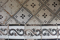 Location image of a tiled, geometric pattern flooring.