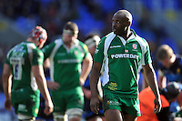 Topsy Ojo, playing his 250th game for London Irish, looks on during a break in play. Aviva Premiership match, between London Irish and Worcester Warriors on February 7, 2016 at the Madejski Stadium in Reading, England. Photo by: Patrick Khachfe / JMP