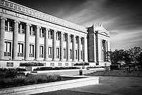 The Field Museum in Chicago black and white picture. The Field Museum is one of the top things to do in Chicago and is one of the most popular Chicago museums.