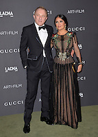 LOS ANGELES, CA. October 29, 2016: Actress Salma Hayek Pinault &amp; husband Francois-Henri Pinault at the 2016 LACMA Art+Film Gala at the Los Angeles County Museum of Art.<br /> Picture: Paul Smith/Featureflash/SilverHub 0208 004 5359/ 07711 972644 Editors@silverhubmedia.com