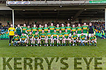 The Kerry Team who defeated Limerick in the Final of the McGrath Cup at the Gaelic Grounds on Sunday.