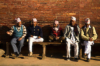 Elderly Nepalese Men - The population of Nepal is a mosaic of diverse ethnic groups including the Thakali, Tamang, Newar, Sherpa, Tibetan and Gurung. In other words, the country is a meeting place of Indo-Aryan peoples from the Indian subcontinent and the Mongoliod people of the Himalaya regions.