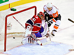 26 October 2009: New York Islanders' left wing forward Jeff Tambellini ties the game at 1-1 in the second period against the Montreal Canadiens at the Bell Centre in Montreal, Quebec, Canada. The Canadiens defeated the Islanders 3-2 in sudden death overtime for their 4th consecutive win. Mandatory Credit: Ed Wolfstein Photo