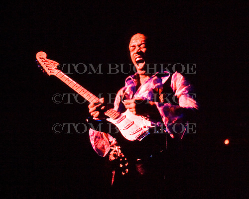 Jimi Hendrix plays the blues on May 3, 1970, at the<br /> St. Paul Civic Center, St. Paul, Minnesota