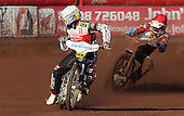 Heat 1: Hans Andersen (white) and Davey Watt (red) - Lakeside Hammers vs Swindon Robins at the Arena Essex Raceway, Pufleet - 18/06/12 - MANDATORY CREDIT: Rob Newell/TGSPHOTO - Self billing applies where appropriate - 0845 094 6026 - contact@tgsphoto.co.uk - NO UNPAID USE..