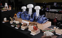 Origami designed and folded by Beth Johnson, Michigan, USA on display at the OrigamiUSA 2013 Convention in New York