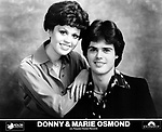 Donny &amp; Marie Osmond on Polydor<br /> photo from promoarchive.com/ Photofeatures