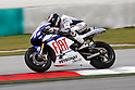 February 5, 2010 - Kuala Lampur, Malaysia - Spanish Rider Jorge Lorenzo (Fiat Yamaha Team) powers his bike for testing on Sepang International Circuit on February 5, 2010. (Photo Andrew Northcott/Nippon News)