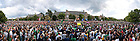 Panoramic image of the crowd on South Quad for the 2010 Dillon Pep Rally...Photo by Matt Cashore/University of Notre Dame