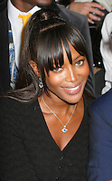Naomi Campbell at the Fashion Fringe show in Covent Garden Market...