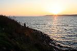 Sunset at Brannan Island. Sacramento River.