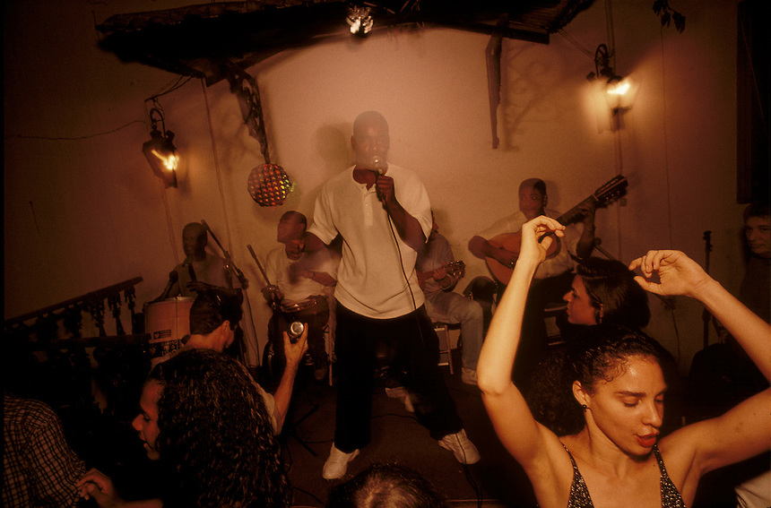 Muscians perform traditional sambas at Casa da Mãe Joana, a Rio nightclub noted for music.