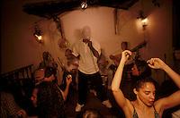 Muscians perform traditional sambas at Casa da Mãe Joana, a Rio nightclub noted for music.