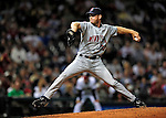 4 September 2009: Minnesota Twins' relief pitcher Ron Mahay on the mound against the Cleveland Indians at Progressive Field in Cleveland, Ohio. The Indians defeated the Twins 5-2 to take the first game of their three-game weekend series. Mandatory Credit: Ed Wolfstein Photo