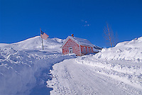 Rural home after snow storm