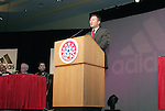 Robert Boyle, U.S. Youth Soccer coordinator for Adidas, on Saturday, January 21st, 2006, during the National Soccer Coaches Association of America's annual convention in the Grand Ballroom of the Pennsylvania Convention Center in Philadelphia, PA.