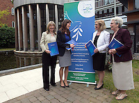 ***NO FEE PIC *** 11/06/2014 (L to R) Shauna Curran Administrator MLRC, Maeve Regan Managing Solicitor MLRC, Minister of State for Housing, Minister Jan O'Sullivan TD & Sr. Helena O' Donoghue Chairperson MLRC during The Mercy Law Resource Centre's Annual Report for 2013 at Sophia Housing on Cork Street, Dublin. Photo: Gareth Chaney Collins