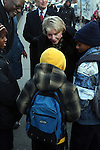 New York City Schools Chancellor Cathie Black visits PS 262 in Bedstuy on her First Day on the Job