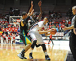"Ole Miss' Anthony Perez (13) vs. Coastal Carolina's Warren Gillis (0) and Coastal Carolina's Kierre Greenwood (55) at the C.M. ""Tad"" Smith Coliseum in Oxford, Miss. on Tuesday, November 13, 2012."