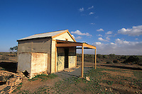 Deserted tin shed near Silverton, New South Wales, Australia.