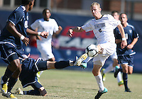 Ian Christianson #6 of Georgetwn University loses the ball to Kyle McCathy #7 of Villanova University during a Big East match at North Kehoe Field, Georgetown University on October16 2010 in Washington D.C. Georgetown won 3-1.