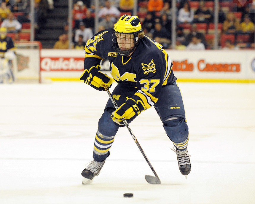 University of Michigan men's ice hockey 4-2 victory over Michigan Tech in the Great Lakes Invitational at Joe Louis Arena in Detroit, MI, on December 29, 2010.