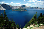Oregon: Crater Lake National Park, Scenic at the lake, orcrat101.   .Photo copyright Lee Foster, www.fostertravel.com, (510) 549-2202, lee@fostertravel.com