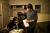 July 23, 2008. Chapel Hill, NC.. Perry and Alex, of the band Prayers and Tears of Arthur Digby Sellers, record one last time before Alex moves to Minnesota and Perry moves to Raleigh.