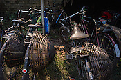 Cycles parked next to the Goladi coal depot in Jharia, outside of Dhanbad in Jharkhand, India.  Photo: Sanjit Das/Panos