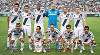 CARSON, CA - July 4, 2012: LA Galaxy starting lineup for the LA Galaxy vs Philadelphia Union match at the Home Depot Center in Carson, California. Final score LA Galaxy 1, Philadelphia Union 2.