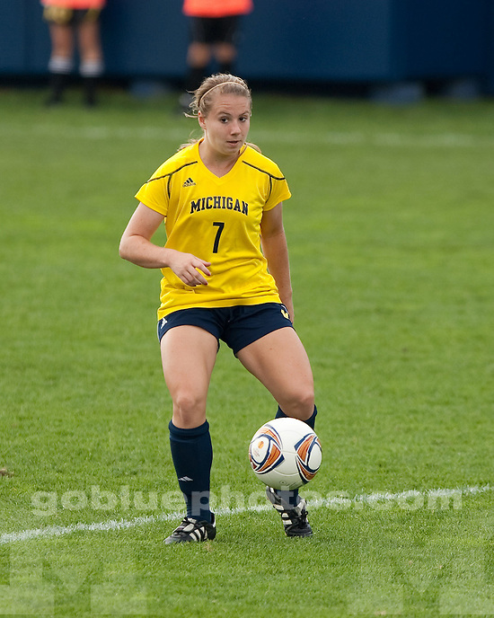 The University of Michigan women's soccer team played Wisconsin to a double-overtime scoreless tie at the UM Soccer Complex in Ann Arbor, Mich., on September 25, 2011.