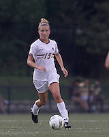 Boston College midfielder Kristen Mewis (19) brings the ball forward. After 2 complete overtime periods, Boston College tied Boston University, 1-1, after 2 overtime periods at Newton Soccer Field, August 19, 2011.