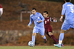 25 November 2012: UNC's Danny Garcia (17) and FDU's Jaeffrey Barrenechea (2). The University of North Carolina Tar Heels played the Farleigh Dickinson Knights at Fetzer Field in Chapel Hill, North Carolina in a 2012 NCAA Division I Men's Soccer Tournament third round game. UNC won the game 1-0 in overtime.