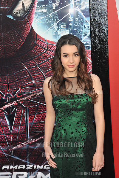 "Hannah Marks at the world premiere of ""The Amazing Spider-Man"" at Regency Village Theatre, Westwood..June 29, 2012  Los Angeles, CA.Picture: Paul Smith / Featureflash"