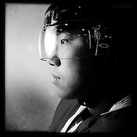 Ice Men Cometh&hellip;Chen Jin,19, China..An iPhone portrait series on young men competing in the 2012 IIHF Ice Hockey World Championships Division 3. The tournament  was contested by countries New Zealand, Iceland, China, Bulgaria and Turkey at Dunedin Ice Stadium. Dunedin, Otago, New Zealand. 17th January 2012. Photo Tim Clayton