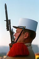 July, 1980, Aubagne, France. Foreign legionnaires honoring the French flag.