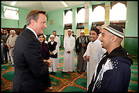 Aug 07 2013 David Cameron Visits The Jamia Mosque