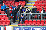 St Johnstone v St Mirren....06.10.12      SPL.Players in the Family Stand.Picture by Graeme Hart..Copyright Perthshire Picture Agency.Tel: 01738 623350  Mobile: 07990 594431
