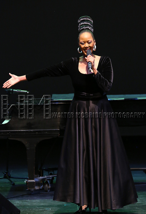 Tsidii Le Loka performs at Woodie King Jr.'s New Federal Theatre 44th Anniversary Gala honoring Voza Rivers at BMCC Tribeca Performing Arts Center on March 16, 2014 in New York City.