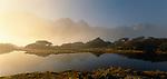 Early morning mist at Key Summit. Fiordland National Park. New Zealand.