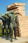 Memorial for the soldiers of the Hungarian Spanish Civil War Brigade -  Memento Sculpture Park ( Szobaopark ) Budapest, Hungary