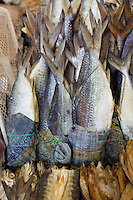 Dried fish in Sandakan market, Sabah, Borneo