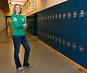 PE00096-00...WASHINGTON - Americorps member Allison Dappen in Wet Seattle High School.