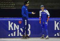 SCHAATSEN: HEERENVEEN: 03-10-2014, IJsstadion Thialf, Team Continu, Letitia de Jong, Gianni Romme, ©foto Martin de Jong