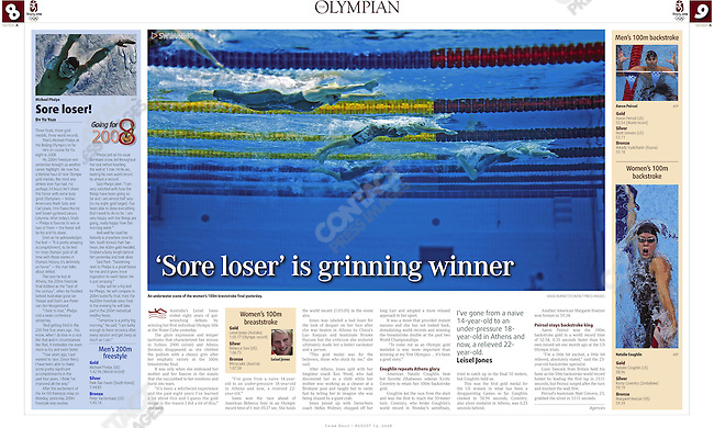 &quot;China Daily - The Olympian&quot;, August 13, 2008, Beijing China