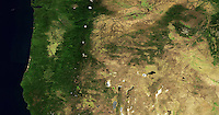 aerial map of the State of Oregon